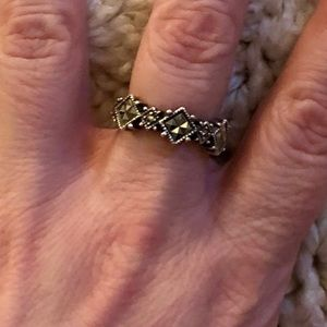 Judith Jack Silver Marcasite Ring